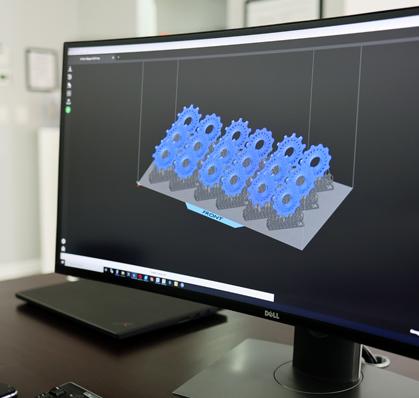 3D software running on computer screen