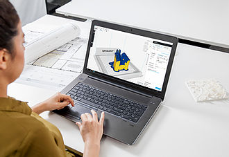 Person working on laptop